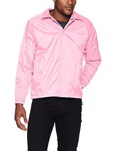 Augusta Sportswear Boys' Nylon Coach's Jacket/Lined, Light Pink, Medium