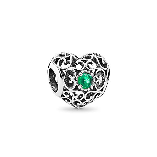 Pandora Jewelry May Signature Heart Crystals Charm in Sterling Silver