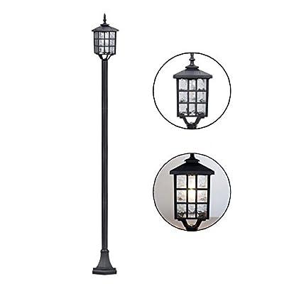 Kemeco ST4324SS4 LED Cast Aluminum Solar Lamp Post Street Light for Outdoor Garden Post Pole Mount Yard