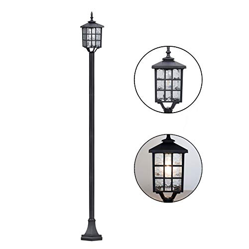 Kemeco ST4324SS4 LED Cast Aluminum Solar Lamp Post Street Light for Outdoor Garden Yard Driveway Pathway Sideway Landscape (Light with Posts)