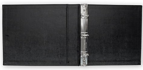 ABC Check Binder for End-Stub Deskbook, 3 Ring, 11 1 4 x 9 , Black