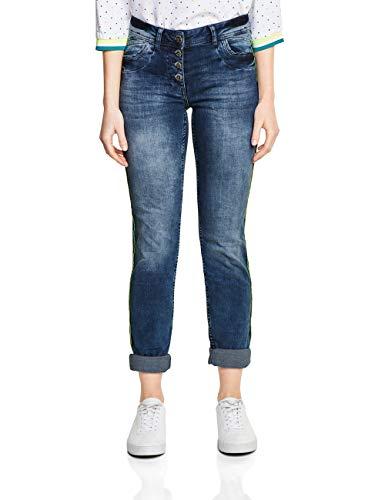 Cecil Damen Scarlett Jeans, Authentic Mid Blue Wash, 29W / 32L