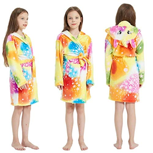 Albornoz infantil para niños, toalla de playa, bata de baño con capucha, diseño de animales, arco iris, para niños, niñas, pijama, camisón, ropa de dormir, color como se muestra, 130 cm