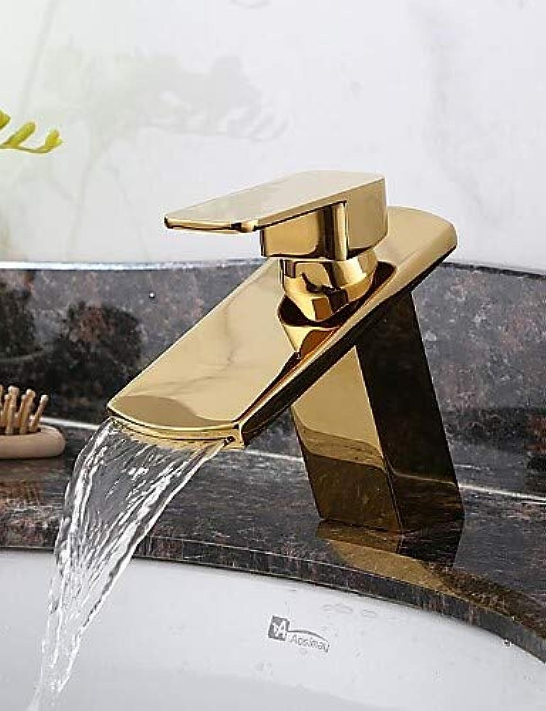 Mainstream home LPZSQ Tippen Sie auf antiken Wasserfall Messing Ti-PVD  480