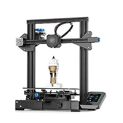 Creality 3D Printer Ender 3 V2, 3D Printers with Super Silent 32 Bit Board, TMC2208 Stepper Motor Driver, Tool Drawer, Carborundum Glass Platform and Resume Printing 220x220x250mm