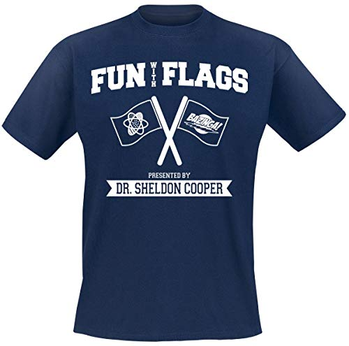 The Big Bang Theory Fun with Flags T-Shirt Navy XXL