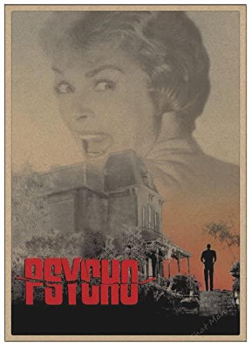 linbindeshoop Horrorfilm Alfred Hitchcock Psycho Horrorfilm Retro Poster Home Dekoration Poster Gemälde Wandposter (LW-3755) 40x60cm Kein Rahmen