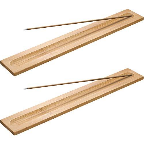 5 Piezas de Porta-Incienso de Madera Bambú Quemador de Inci