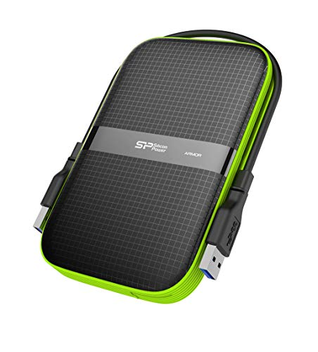 Silicon Power 2 TB External Portable Hard Drive Rugged Armor A60 Shockproof Water-Resistant 2.5-Inch USB 3.0, Military Grade MIL-STD-810G & IPX4, for PC/Mac/Xbox One/Xbox 360/PS4/PS4 Pro/PS4 Black