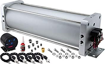 Vixen Air 2.5 Gallon Seamless Aluminum Air Tank Kit up to 220 PSI. With Integrated 8-Valves, 16 Ports, a Digital Gauge for Front & Rear Pressure Display. For a 4-Corner Suspension System/Horn. VXX2593