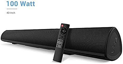 100Watt 40 Inch Soundbar, Bestisan Sound Bar Wireless and Wired Audio Bluetooth 5.0 TV Speakers with Bass Adjustable (2019 Beef Up Version, 60 Days Home Trial)