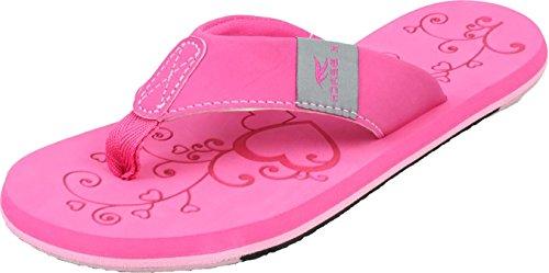 Bockstiegel KATRIN Damen Zehentrenner | Flip | 36-41 | Verschiedene Farben | Badelatschen | Strandschuhe | Zehenstegpantolette, Größe:37/UK 4, Farbe:Pink