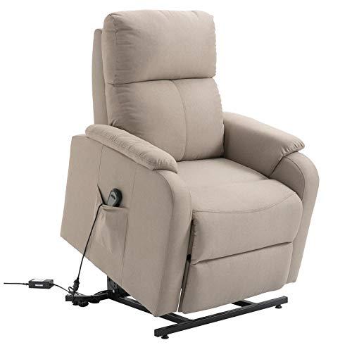 CARO-Möbel Fernsehsessel Retire Relaxsessel Ruhe TV Sessel mit elektrischer Liege- und Aufstehfunktion in beige/braun