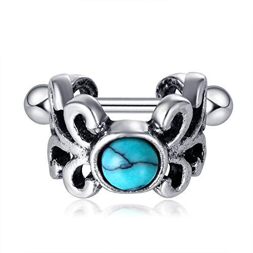 Opal Stone Ear Piercing Cartilage Cuff Barbell Surgical Steel Helix Piercings Bar Tragus Earring Body Jewelry
