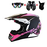 STARMOON Motocross Youth, Adult Helmet DOT Approved Motorbike Moped...