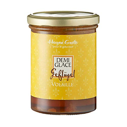 Hagen Grote Geflügel Demi Glace, 400 g Glas, hocharomatische, konzentrierte Grundsauce, auch für Suppen oder Ragout, rein natürlich, sehr ergiebig