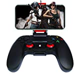Mando para Android Inalámbrico, Maegoo Bluetooth Móvile Juegos Mando Gamepad Joystick Compatible para iOS(11.3-13.3 Version) iPhone iPad Android Teléfono Tableta