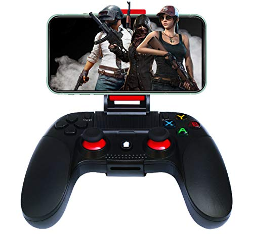 Wireless Controller für Android, Maegoo Mobile Kabellos Bluetooth Game Spiel Controller Gamepad Joystick mit Einziehbarer Halterung für iPhone iPad iOS(11.3-13.3 Version) Android Phone Tablet