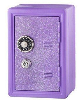 Glitter Safe Bank – Mini Locker with Glitter - Kids Storage Locker (Lavender)