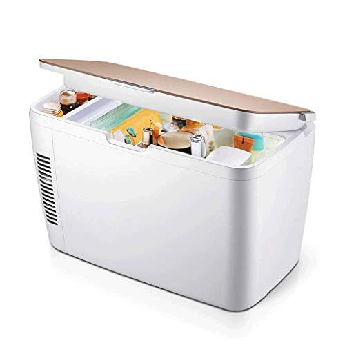 NXYJD Mini refrigerador y Calentador termoeléctrico for refrigerador - Hogar, Oficina, automóvil, Dormitorio o Bote - Compacto y portátil - Cables de alimentación de CA y CC