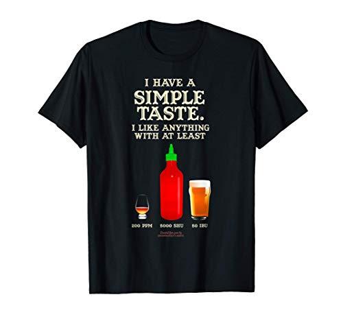 Whisky, Chili & Bier Design f. Fans von Chili, Bier & Whisky T-Shirt