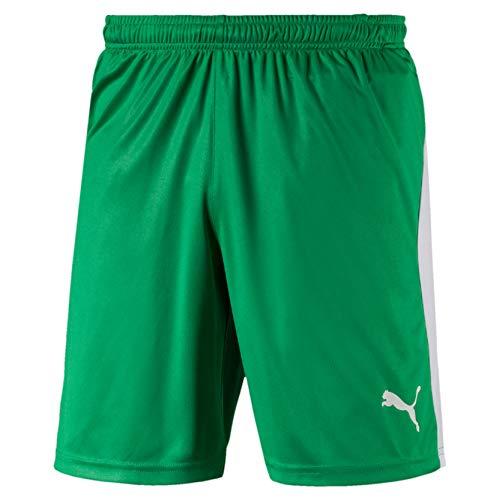 PUMA Liga Shorts, Pantaloncini Uomo, Verde (Bright Green White), M