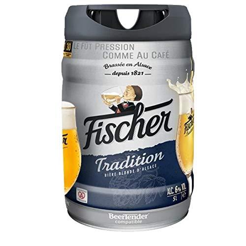 Les5CAVES - Pack de 2 fûts FISCHER TRADITION Fût de bière blonde - CompatIble Beertender - 5L - Lot de 2