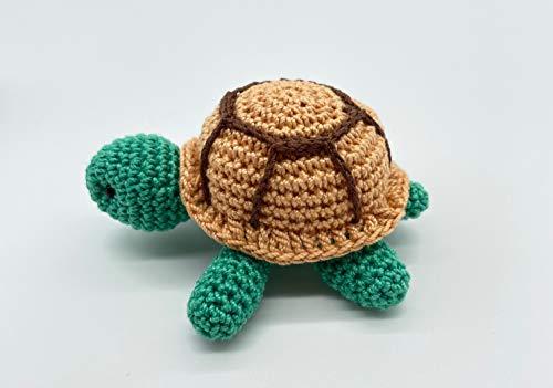 Tartaruga giocattolo, regali in miniatura all'uncinetto, animali impagliati