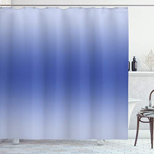 OMBRE Duschvorhang von ambesonne, klar Himmel auf ein Summer Day inspiriert Motto Sky blauen Kunstdruck Modern Stoff Badezimmer Decor Set mit Haken, 177,8cm, blau