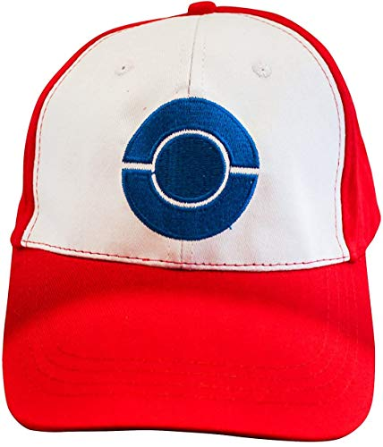 Pokemon Trainer Ash Ketchum Cap Hat - disfraz para adultos y niños - perfecto para carnaval, carnaval y cosplay - temas de damas y caballeros