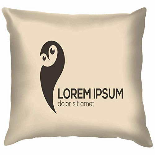 Moily Fayshow Owl Design Night Hunter Pillow Case Throw Pillow Cover Square Cushion Cover 16X16 Inch