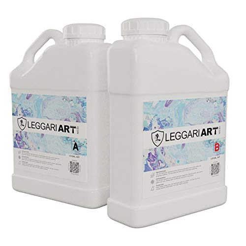 Epoxy Crystal Clear Resin with Nano Glass Technology for Extreme Durability and Scratch Resistance. 1.5 Gallon Kit. Industrial Grade Super Gloss.