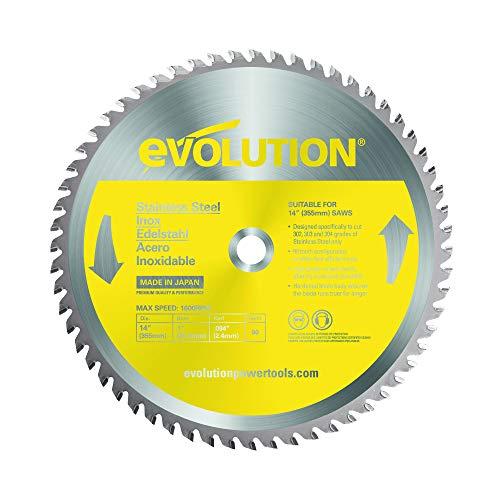 Evolution Power Tools Edelstahl Sägeblatt, 90TBLADE, Rostfreier Edelstahl, 355 mm