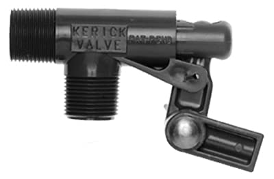 "Kerick Valve PS75LS PVC Float Valve, Standard Mount, 16.5 gpm at 60 psi, 3/4"" NPT Male by Kerick Valve"