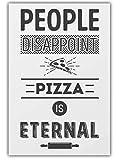 Wandkunst Englische Redewendung Pizza Poster Cannabis
