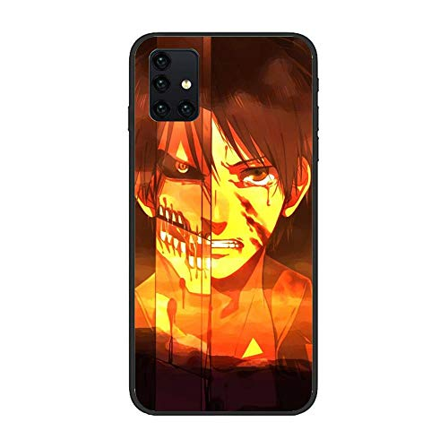 X-Art Black Soft TPU Liquid Non-Slip Fundas Case for Samsung Galaxy A51 5G-Anime-Attack on-Titan 6