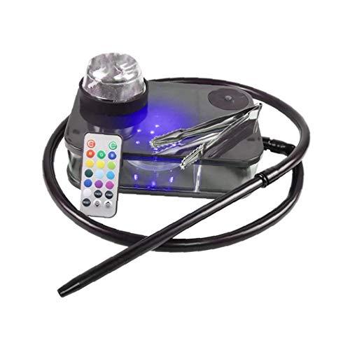 Moderna Acrilico Narghilè Kit Completo Portatile Shisha Nargile Fumo Tubo Di Acqua Con Telecomando...