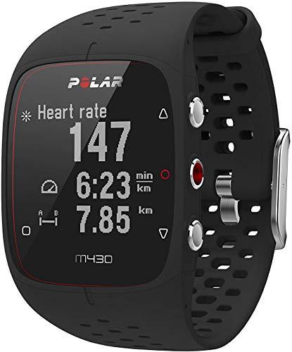 Imagem representativa de Relógio com GPS e Frequência Cardíaca no Pulso para Corrida M430, Polar, Preto, Único