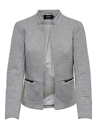 ONLY Damen Sweat Blazer Anzugjacke (40 (Herstellergröße: 40), Light Grey Melange)