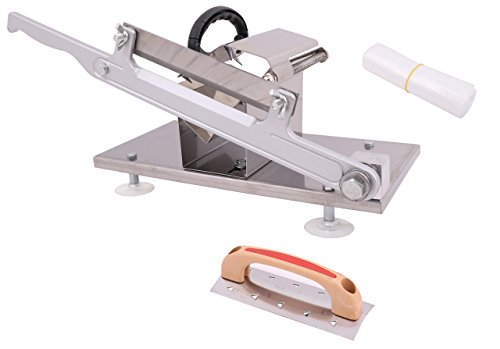 Manual Control Stainless Steel Frozen Meat Slicer Cutting Beef Mutton Potato Vegetable Sheet Cutter Home Kitchen Business Industrial Use