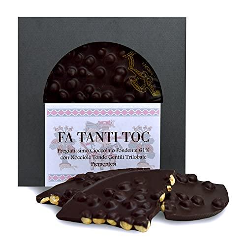 FA TANTI TOC - Tavoletta Cioccolato Fondente 61% - Pasticceria Scalenghe - Cioccolato Fondente con Nocciola Tonda Gentile Trilobata Piemontese - Dolce artigianale - Maestri del Gusto - Made in Italy