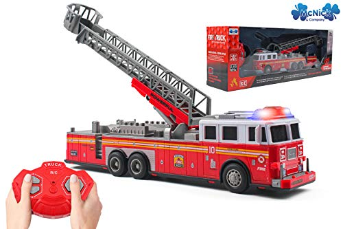 RC Remote Control Fire Truck Toy - #1 Fire Engine Toys for Boys - Firetruck Toys for Kids 3-8