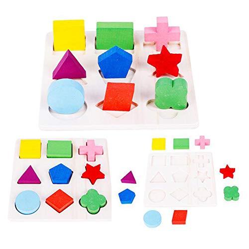 ACHICOO Hölzerne geometrische Form blockiert Spielzeug des Puzzlespiel-3D für Kind Eine dritte Tafelfür den Heimgebrauch