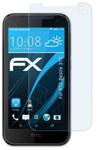 atFolix Schutzfolie kompatibel mit HTC Desire 310 Folie, ultraklare FX Bildschirmschutzfolie (3X)