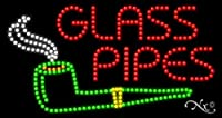 17x 32x 1インチガラスパイプアニメーション点滅LEDウィンドウサイン