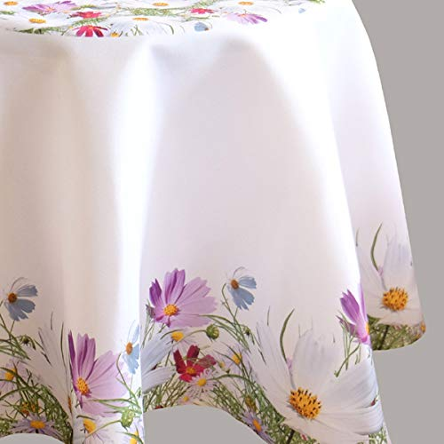 Kamaca Serie FRÜHLINGSZAUBER hochwertiges Druck-Motiv mit Blumen EIN Eyecatcher in Frühling Sommer (Tischdecke 150 cm rund)