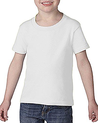 Gildan Double Needle Taped Neck Softstyle 4.5 Oz. T-Shirt, 2T, White