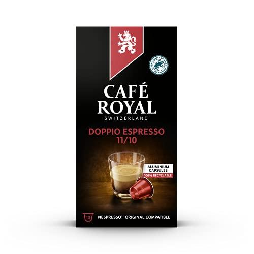 Café Royal Doppio Espresso Strong Edition 100 Nespresso®* kompatible Kapseln (aus Aluminium, Intensität 11/10) 10er Pack (10 x 10 Kaffeekapseln)