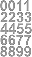 "1"" Inch Premium Mailbox Number Vinyl Decal Sticker Sheet (Silver) 