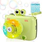 GOLDGE Máquina de Burbujas para Niños, Divertida Forma de Frog Shape soplador de Burbujas Alimentado por batería (batería Not incluida) para Niños y Adultos